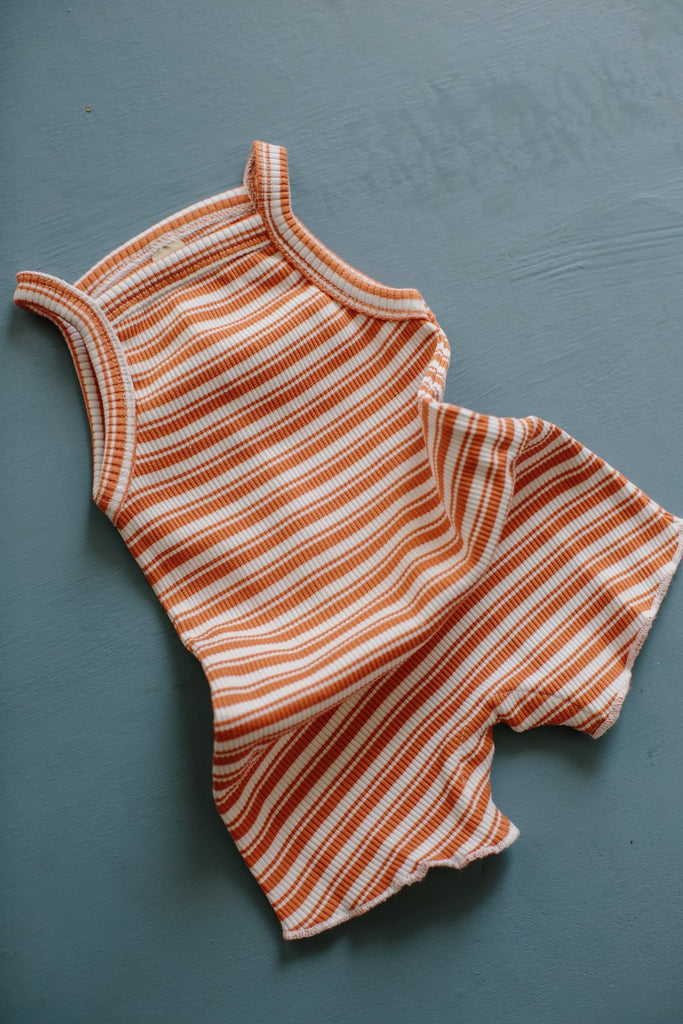 Millk Australia Baby & Kid's Weekly Onesie Orange Stripe | BIEN BIEN
