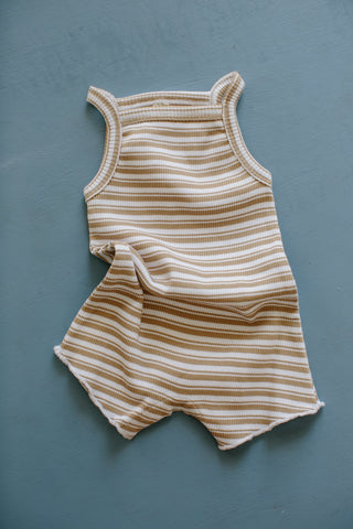 Millk Australia Baby & Kid's Weekly Onesie in Tan Stripe | BIEN BIEN