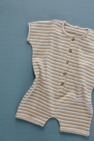 Millk Australia Baby & Kid's Weekly Playsuit in Tan Stripe | BIEN BIEN