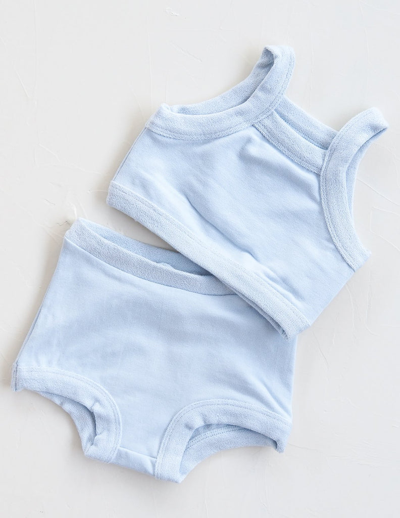 New - Millk Australia Key Ensemble Baby/ Kid Terry Set Sky Blue | BIEN BIEN www.bienbienshop.com