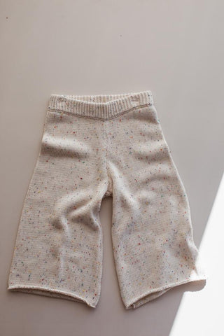 Millk Australia Seasonal Cotton Knit Kid's Pant in Confetti Sprinkle Fleck | BIEN BIEN