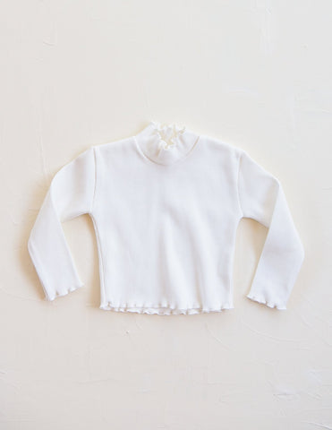 New - Millk Australia Weekender Kid Ribbed Cotton Crop Top Vanilla | BIEN BIEN www.bienbienshop.com