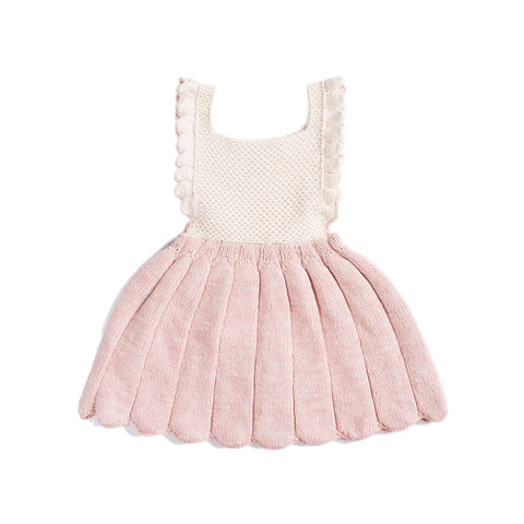 Misha & Puff Louisa Baby Girl & Girl's Pinafore Dress in Pink Sand/Natural | BIEN BIEN