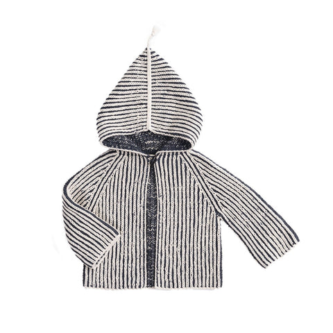 Misha & Puff Fiora Baby Girl Plum Island Beach Jacket in Midnight/Natural | BIEN BIEN