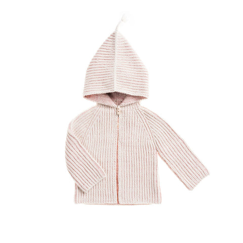 Misha & Puff Fiora Baby Girl Plum Island Beach Jacket in Pink Sand/Natural | BIEN BIEN