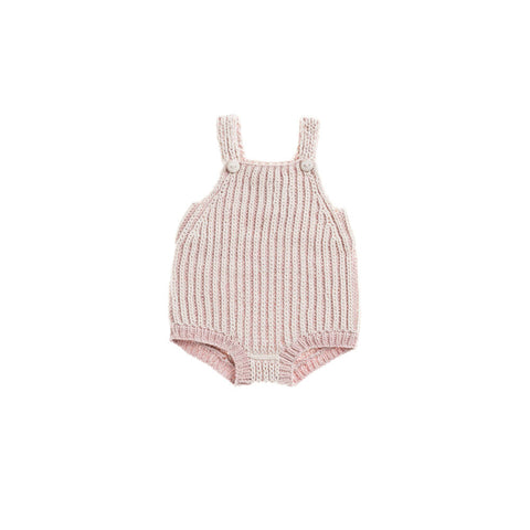 Misha & Puff Plum Island Baby Girl Playsuit in Pink Sand/Natural | BIEN BIEN