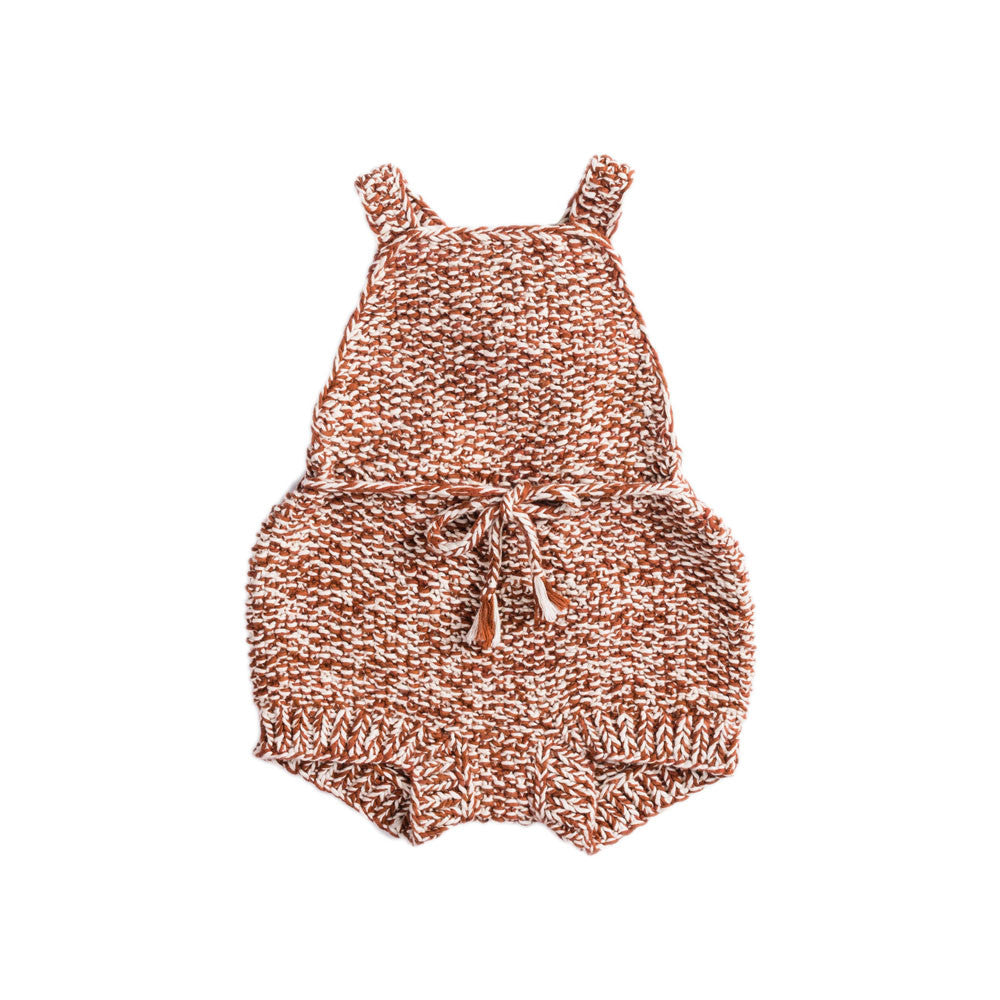 Misha & Puff Starfish Baby Girl/Girl's Sunsuit in Terracotta/Natural | BIEN BIEN