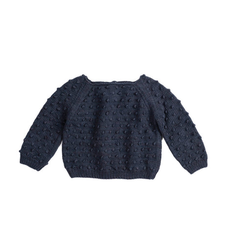Misha & Puff Summer Baby Girl/Girl's Popcorn Sweater in Midnight | BIEN BIEN