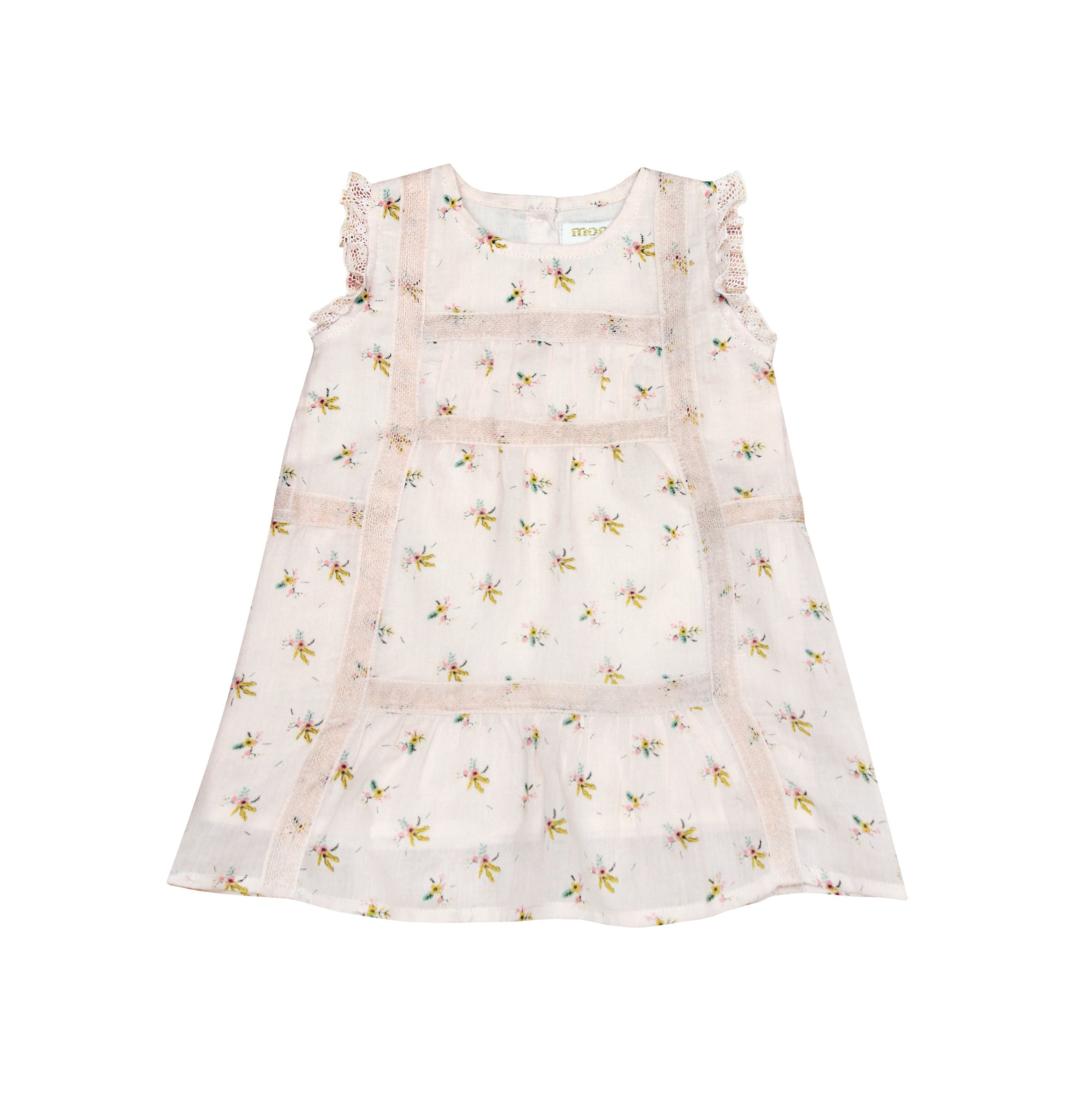 Moon Paris Adeline Baby Girl Dress Light Flowers | BIEN BIEN www.bienbienshop.com