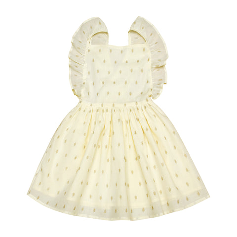 Moon Paris Nina Kid's Dress Golden Flowers | BIEN BIEN www.bienbienshop.com