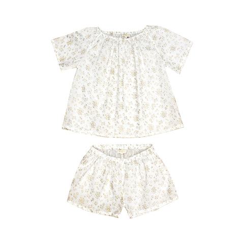 Moon Paris Fanny Kid's Pyjamas Golden Sparks | BIEN BIEN www.bienbienshop.com