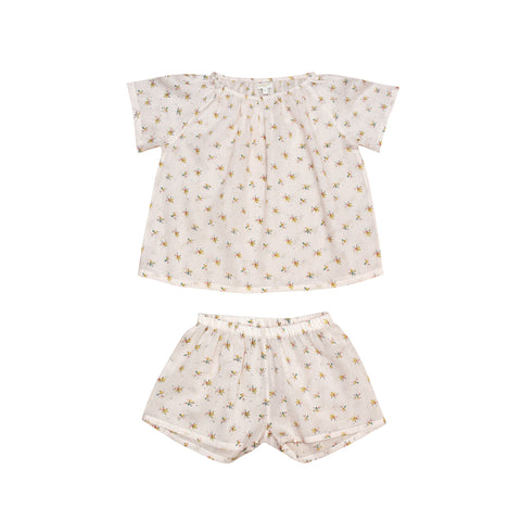Moon Paris Fanny Kid's Pyjamas Light Flowers | BIEN BIEN www.bienbienshop.com