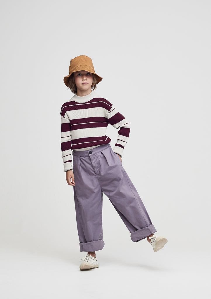 Main Story Kid's Barrel Leg Twisted Seam Cotton Trouser Shark Grey NEW bienbienshop.com