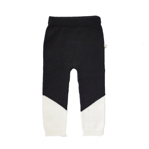 Bacabuche Color Block Baby Legging in Black/Cotton | BIEN BIEN
