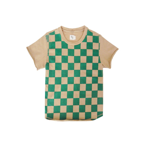 Nico Nico Checkers Organic Short Sleeve T-Shirt Hunter | BIEN BIEN