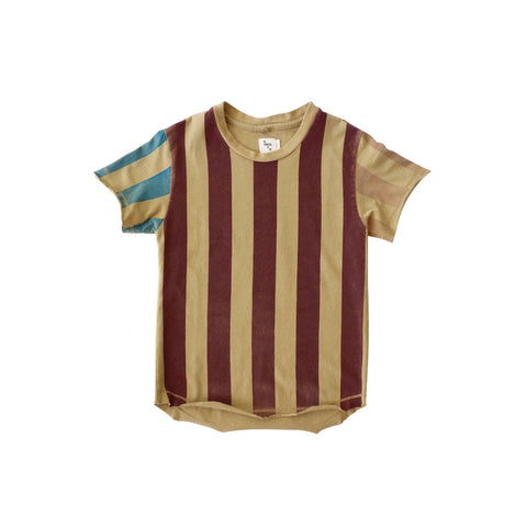 Nico Nico Lines Organic Short Sleeve Kid's T-Shirt in Tan | BIEN BIEN