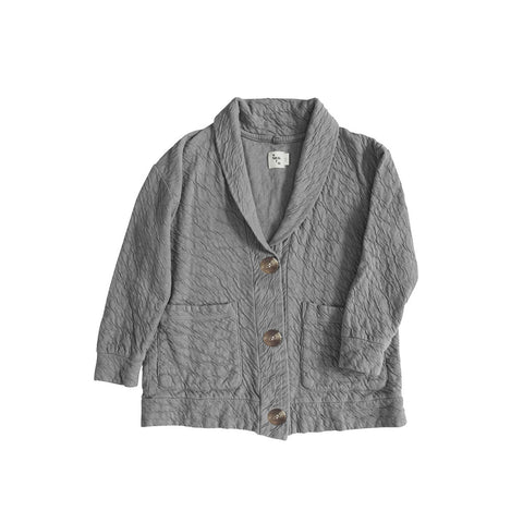 Nico Nico Win Kid's Organic Cotton Cardigan in Medium Grey | BIEN BIEN
