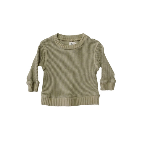 New Nico Nico Luc Waffle Thermal Baby Long Sleeve Tee Flax | BIEN BIEN bienbienshop