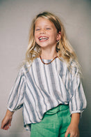 Nico Nico Theodora Kid's Blouse Navy/Natural Sailor Stripe | BIEN BIEN www.bienbienshop.com
