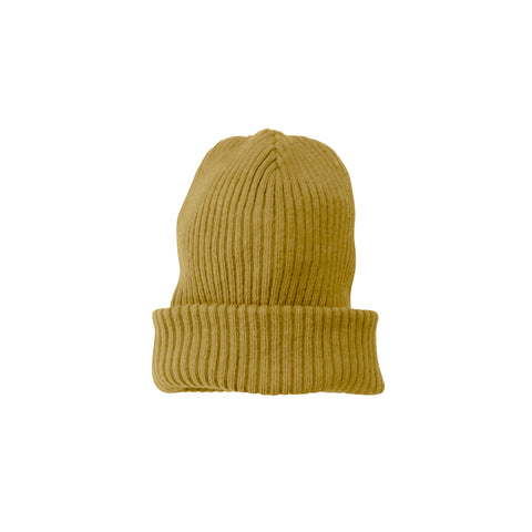 New Nico Nico Wood Kid's Beanie Mustard Yellow Gold | BIEN BIEN