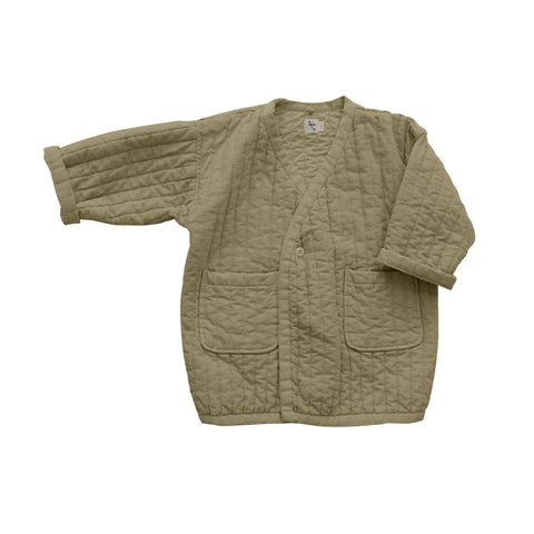 New Nico Nico Sterling Kid's Quilted Coat Flax | BIEN BIEN