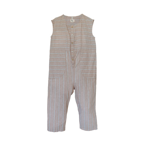 NEW Nico Nico Julez Kid's Sleeveless Jumpsuit Khaki Stripe | BIEN BIEN