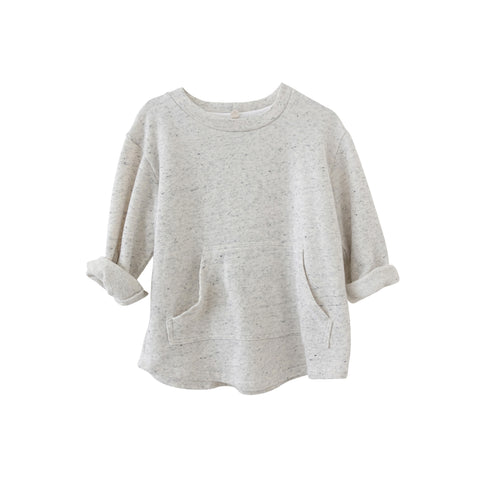 Nico Nico Mikey Kid's Speckled Pullover Natural Light Grey | BIEN BIEN www.bienbienshop.com