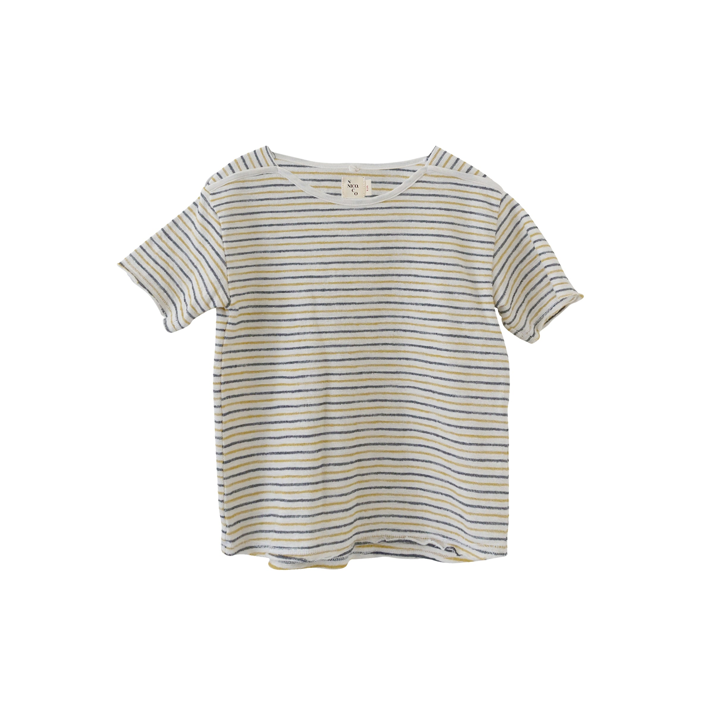 Nico Nico Frances Kid's Tee Soy Natural Stripe Organic Cotton | BIEN BIEN www.bienbienshop.com