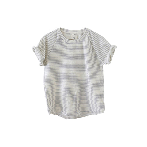 Nico Nico Sunset Kid's T-Shirt in Natural Stripe | BIEN BIEN