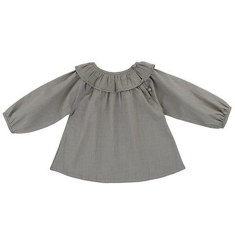 Ketiketa Colombine Baby Girl Blouse in Grey Green | BIEN BIEN
