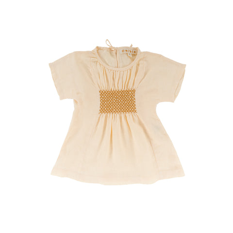 Omibia Bella Baby & Kid's Linen Dress Cream | BIEN BIEN www.bienbienshop.com
