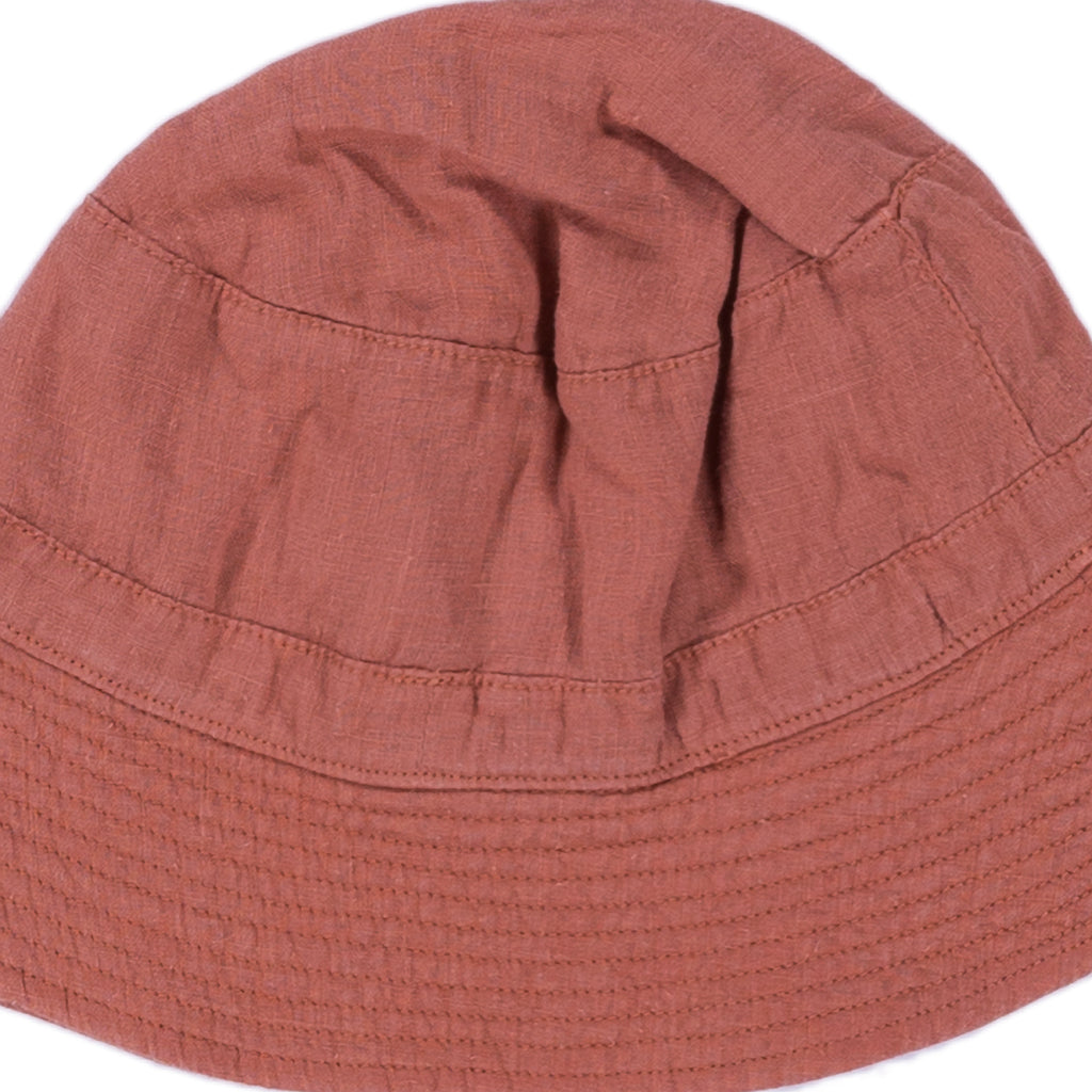 Omibia Francis Organic Baby & Kid's Hat in Sienna Orange | BIEN BIEN
