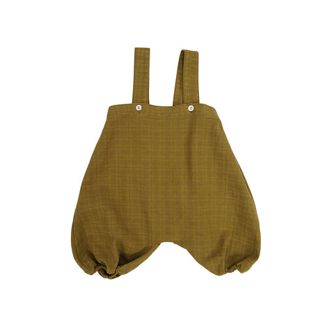 Omibia Organic Cotton Willow Baby Romper Saffron Air | BIEN BIEN bienbienshop.com
