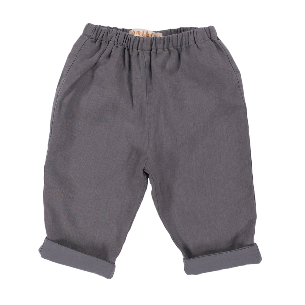 Omibia Caspar Organic Baby Trousers in Misty Grey | BIEN BIEN