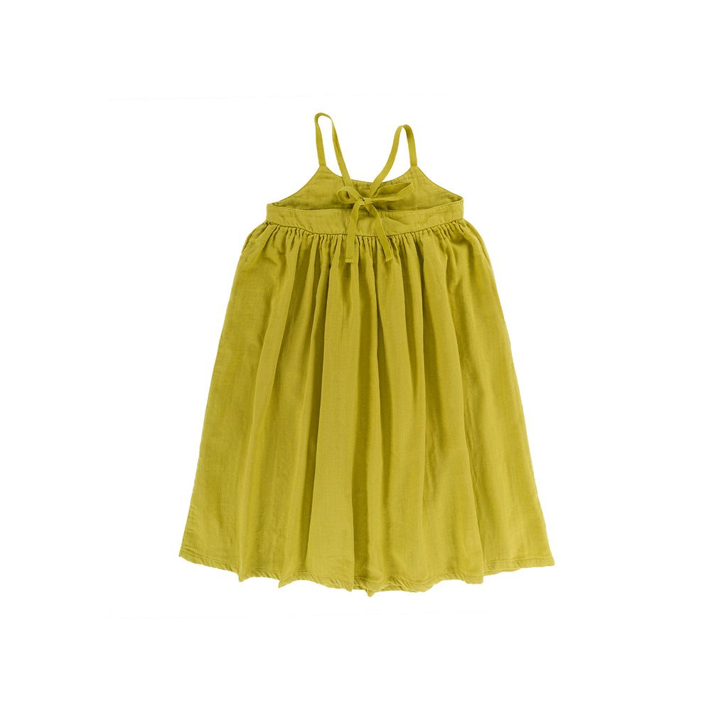 Omibia Violeta Kid's Dress Lime Green Organic Cotton | BIEN BIEN www.bienbienshop.com