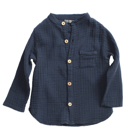 1+ in the Family Maurici Baby Boy Shirt Denim