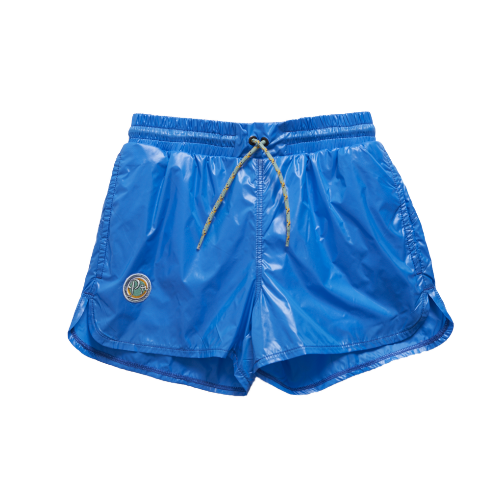 Pacific Rainbow Aaron Boy's Swim Trunk in Bleu Electrique | BIEN BIEN