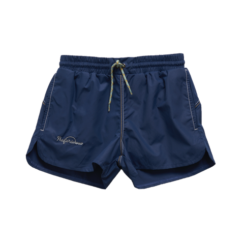 Pacific Rainbow Jim Boy's Swim Trunk in Navy | BIEN BIEN
