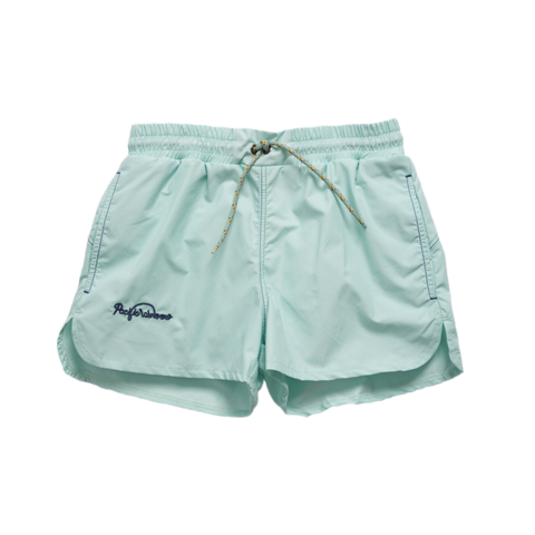 Pacific Rainbow Jim Boy's Swim Trunk in Vert Amande | BIEN BIEN
