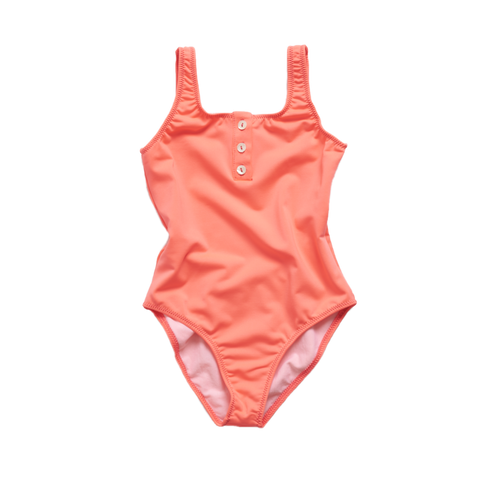 Pacific Rainbow Laura Girl's One-Piece Swimsuit in Rose Fluo | BIEN BIEN