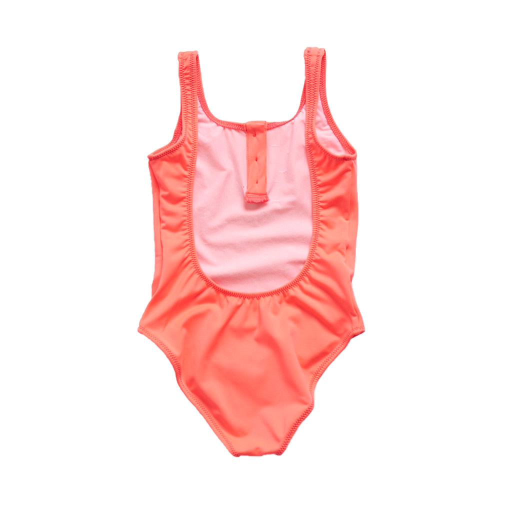 Pacific Rainbow Laura Girl's Swimsuit in Rose Fluo | BIEN BIEN