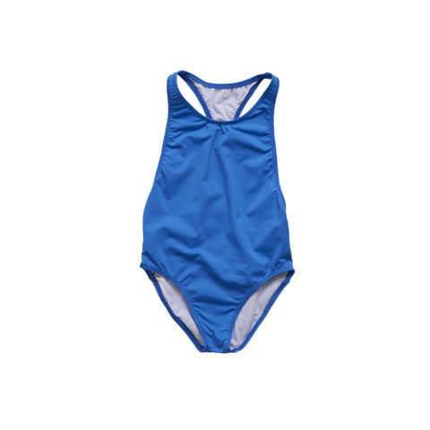 Pacific Rainbow Sacha Girl's Swimsuit in Bleu Electrique | BIEN BIEN