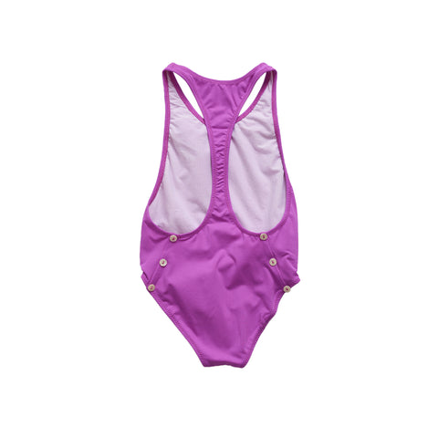 Pacific Rainbow Sacha Girl's Swimsuit in Fuchsia | BIEN BIEN