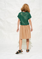 Polder Girl Paris Dahlia Girl's Blouse in Forest Green | BIEN BIEN