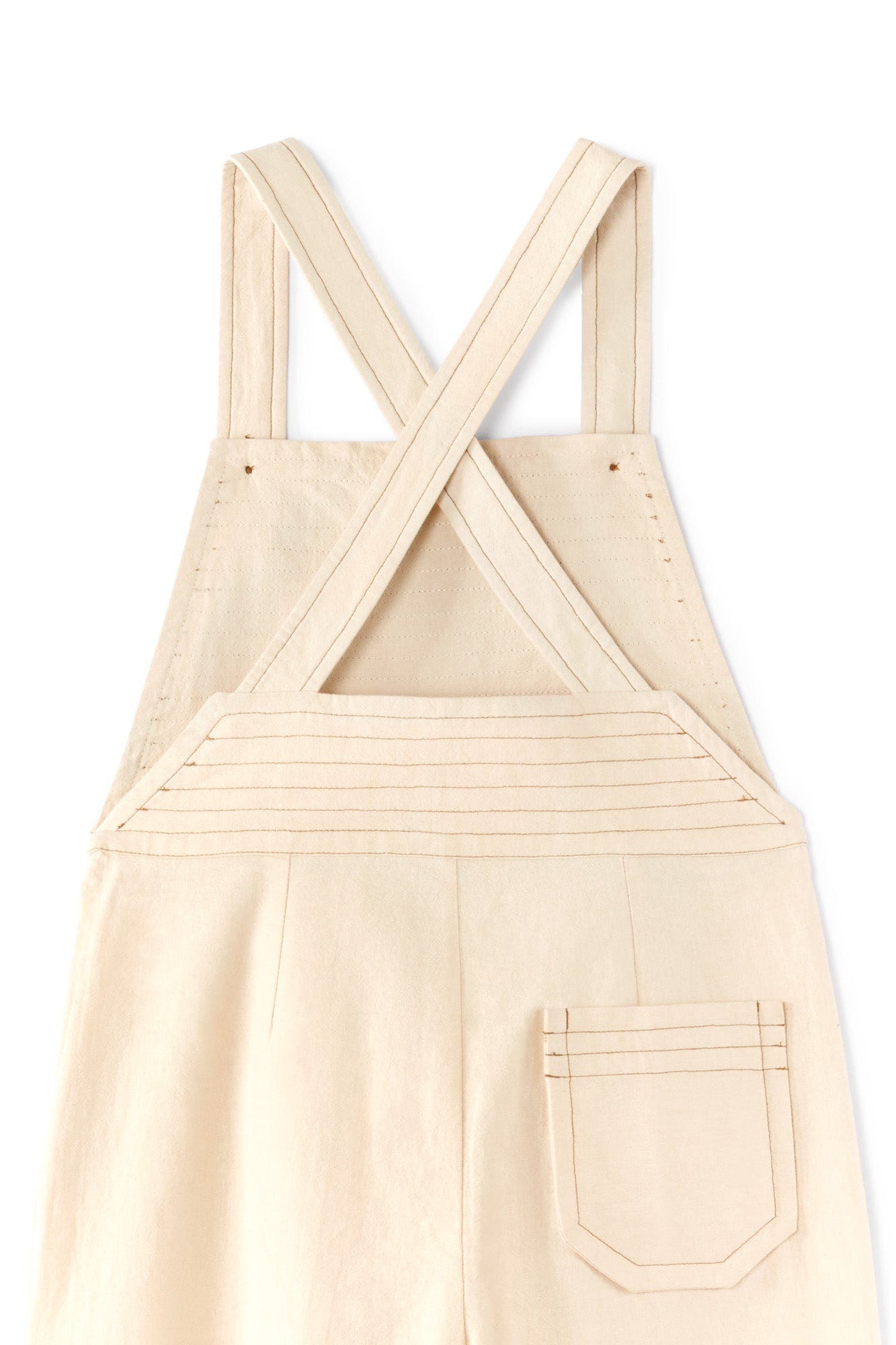 Polder Girl Paris Denmark Girl's Dungarees in Natural | BIEN BIEN