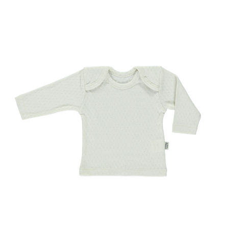 Poudre Organic Begonia Baby Long Sleeve Tee Almond Milk | BIEN BIEN  Baby gifts under $30