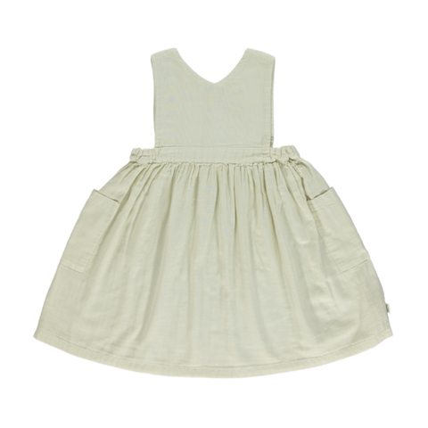 Poudre Organic Mangue Kid's Babydoll Dress Almond Milk | BIEN BIEN