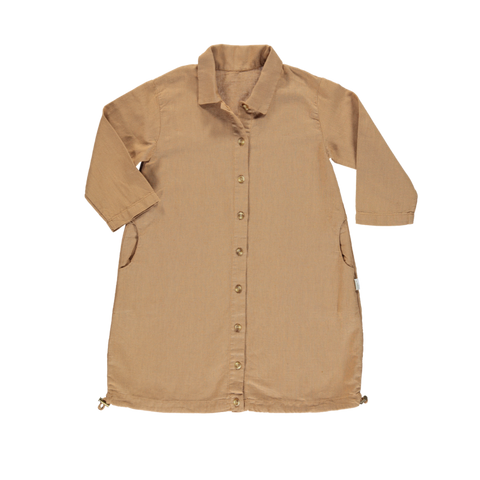 Poudre Organic Pineapple Kid's Linen/Organic Cotton Jacket Brown Sugar Camel | BIEN BIEN bienbienshop.com