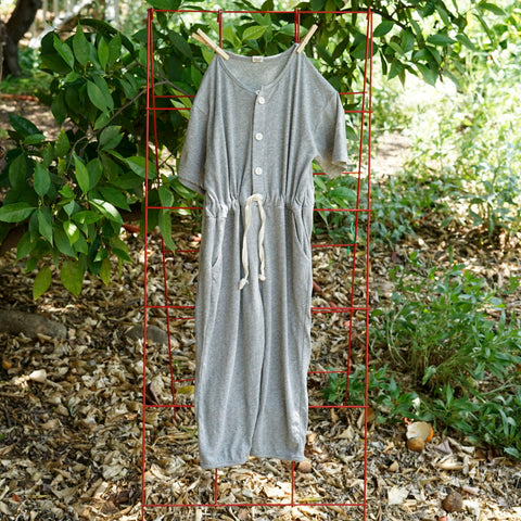 NEW from Korea - Amore Marlang Kid's Short Sleeve Jumpsuit Gray | BIEN BIEN