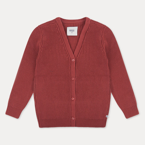 Repose AMS Ribbed Knit Kid's V-Neck Sweater Warm Birch | BIEN BIEN | www.bienbienshop.com